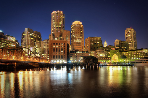 picture of Boston night